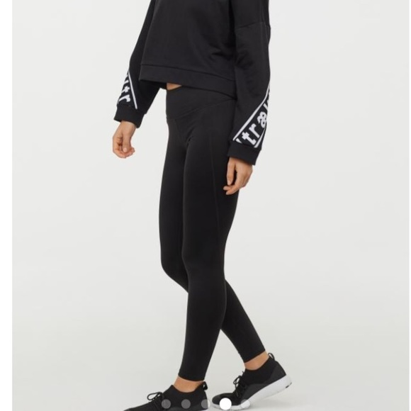 sélectionner pour dernier code promo le moins cher H&M Sport black leggings NWT